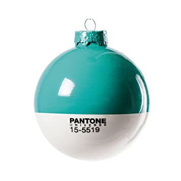 Toll Seletti Christmas Pantone® 15 5519 Glass Ball Ø Cm.8   Tourquise