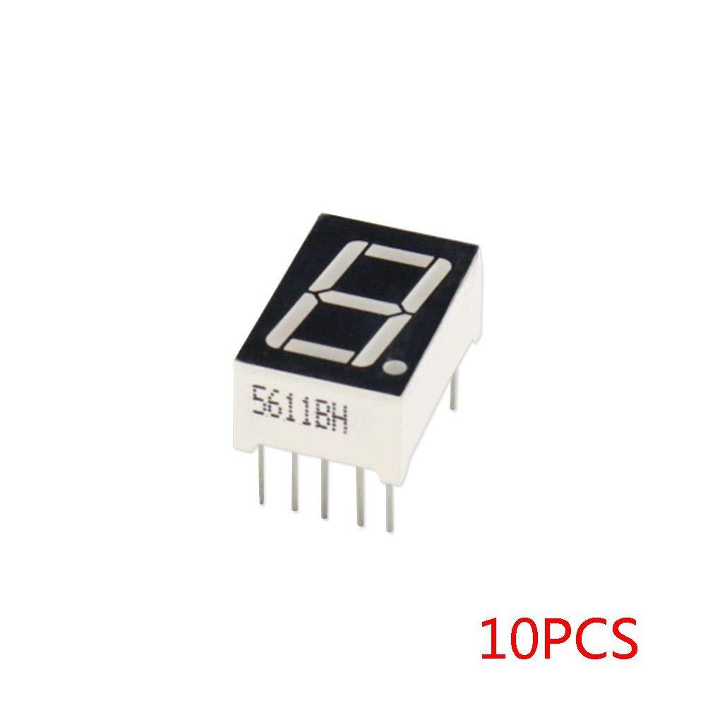 "5Pcs Red 7-Segment 3-Bit 0.56/"" LED Digital Display Tube Common Anode"