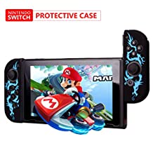TurnRaise Nintendo Switch Joy-Con Silicon Protective Case, Wear-resistant Joy-con Handle for Nintendo Switch