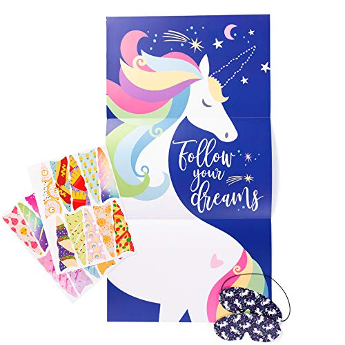 Pin the Horn on The Unicorn, Unicorn Party Supplies Game, Fun Girl's Birthday Gift Play Set]()
