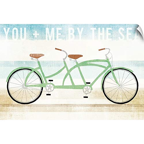 CANVAS ON DEMAND Michael Mullan Wall Peel Wall Art Print Entitled Beach Cruiser Tandem 24