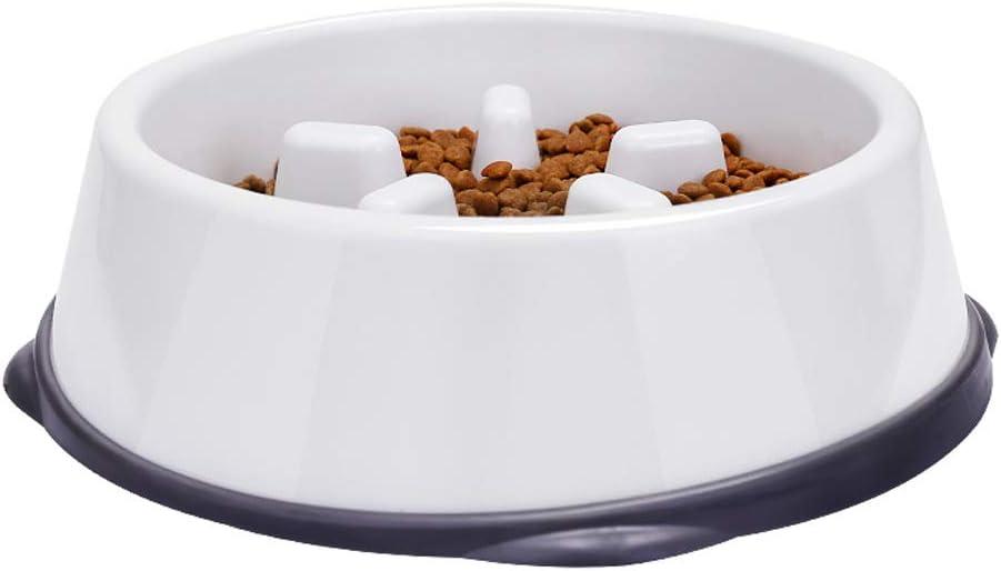 Queen Boutiques Plato De Plástico para Perros Y Gatos. Diseño Automático De Agua para Beber. Plato De Comida Lenta para Evitar La Subida del Vientre para Alimentos De Mascotas. (tamaño : L):