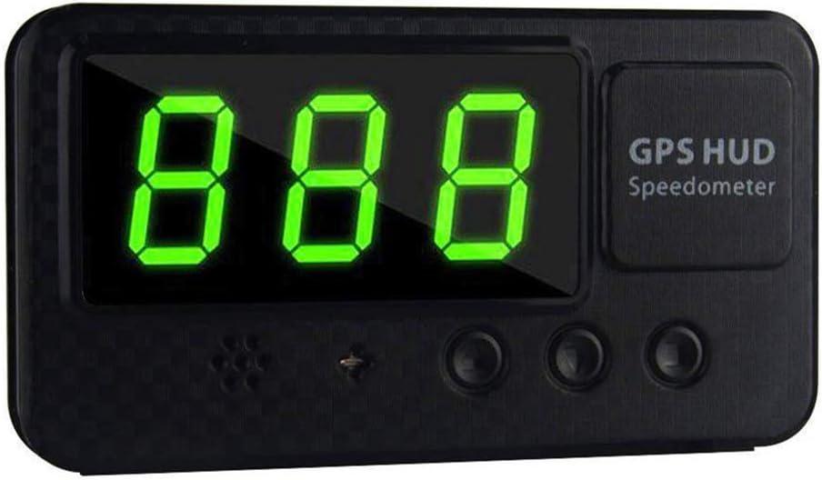 TXYFYP Universal GPS Head Up Pantalla Velocímetro Odómetro Coche Digital Velocidad Pantalla mph sobre Apurando Alarma Coche Reloj para Compatible con Todos Coches, Camión, Moto y Bici