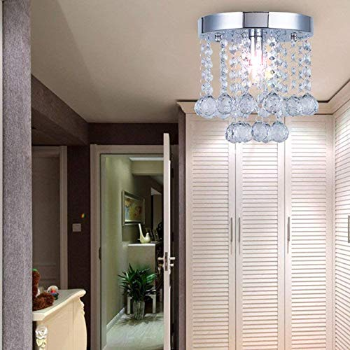 Chandelier Crystal Lighting,Modern Flush Mount Ceiling Light,Rain Drop Pendant Ceiling Lamp for Hallway Suitable for Dining Room,Banquet Hall H7.3 X W7.9 by Floodoor (Image #5)