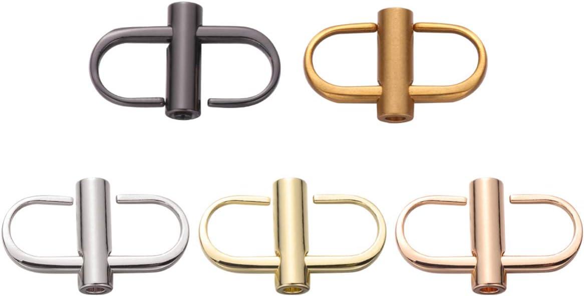 SUPVOX 5pcs bolsa cadena hebilla ajustable bolsa clip de cadena bolsa hebillas de metal diy artesanía bolso longitud del bolso accesorios (color mezclado)
