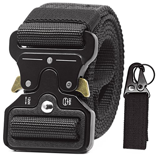 Battle Tactical Belt Riggers Black Military Utility Nylon Webbing Fire Fighter Men Women Travel Molle Mission Shooters Tools Gear Police Law Enforcement Duty Waistband keychain holder