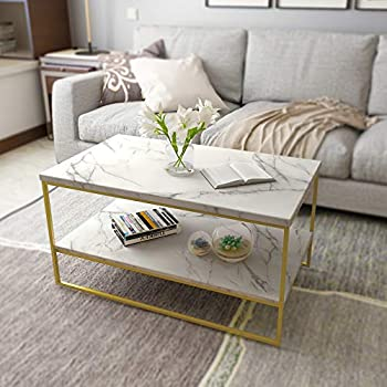 """Amazon.com: WE Furniture 36"""" Short Round Coffee Table For ..."""