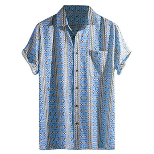 - Men's Relaxed-Fit Silk/Linen Tropical Leaves Jacquard Shirt Hawaiian Flower Print Casual Button Down Short Sleeve Shirt