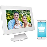 PhotoSpring (80GB) 10-Inch IPS, WiFi, Touchscreen, Battery, iPhone & Android App, Photo & Video, Digital Picture Frame (White) 80,000 photo capacity