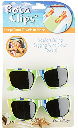 Boca Clips 2-pc. Green Sunglasses Beach Clip Set One Size Multi