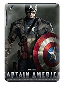 Candy color tpu phone cover/shell/case with view for iPad mini of Avengers Captain America in Fashion E-Mall