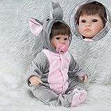 Icocol Newborn Dolls, Real Newborn Handmade Lifelike Baby Doll Reborn Silicone Vinyl Clothes Body for Girls Children Gift - 17 Inch