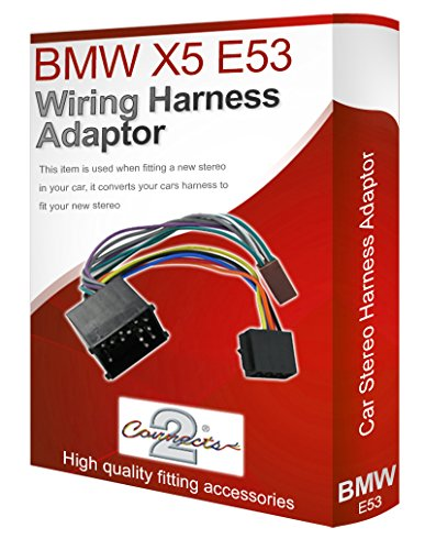 radio stereo wiring harness adapter lead loom ISO converter connector for BMW X5 E53: Amazon.co.uk: Electronics