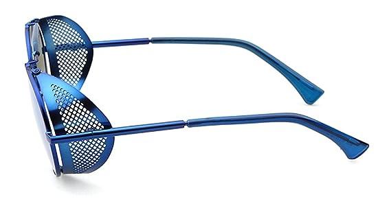 Sonnenbrille mit doppelter Brücke und einklappbarer Netzseite, oval, 52 mm, mehrfarbig
