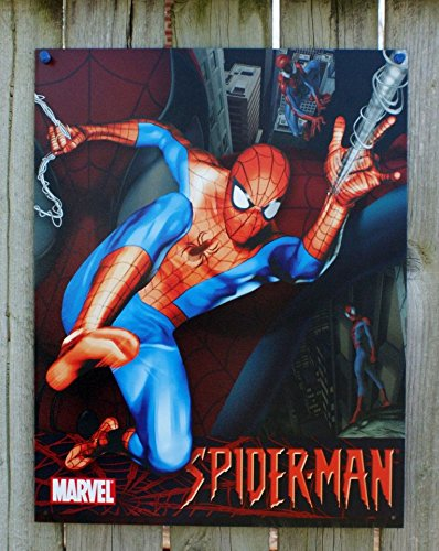 Marvel-Spiderman-Tin-Sign-125W-x-16H-13x16