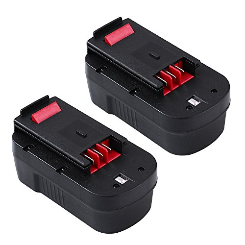 Replace Black and Decker 18V Battery HPB18 HPB18-OPE 244760-00 A1718 A18 Firestorm FS180BX FS18FL 2Pack (Storm Slide)