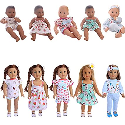 Amazon Com Zwsisu 5 Sets Alive Baby Doll Clothes For 14 16 Inch