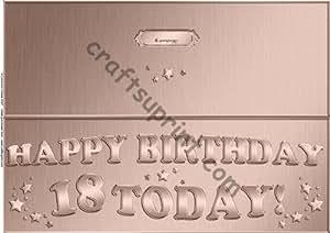 Grande DL 18th Birthday rápido corte y tarjetas por Carol Clarke