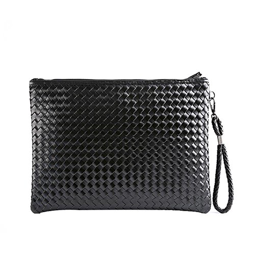 Nabao With Wristlet Leather Men Pu Bag Handbag Wallet Business Woven Wrist Clutch For qwTSwv