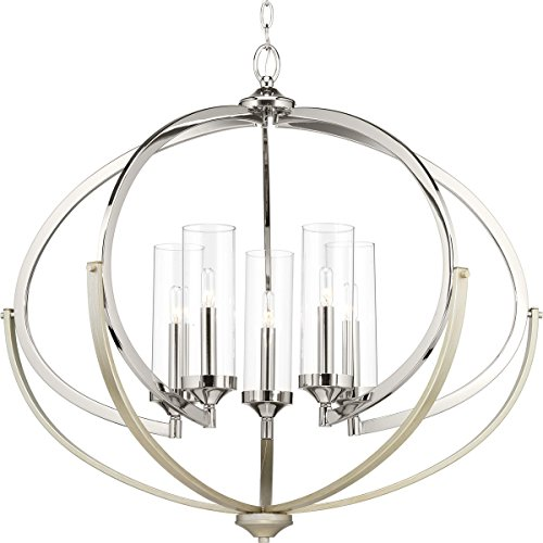 00117-104 Evoke Five-Light Chandelier, Polished Nickel ()