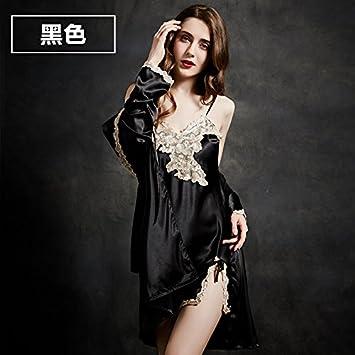 En Nuisette Nuit Taotingyan Pyjamas Dentelle SatinRobe nuisette srdxQthC
