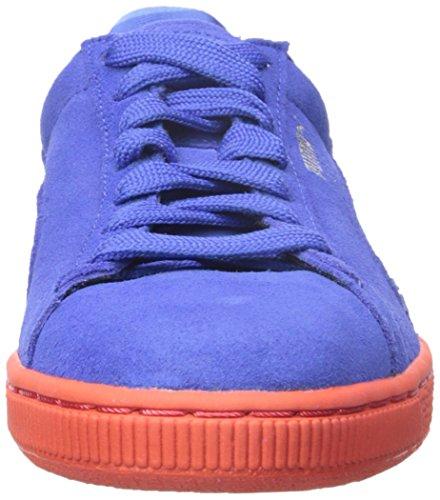 Puma Donna Camoscio Classico + Strisce Sneaker Abbagliante Blu / Marina