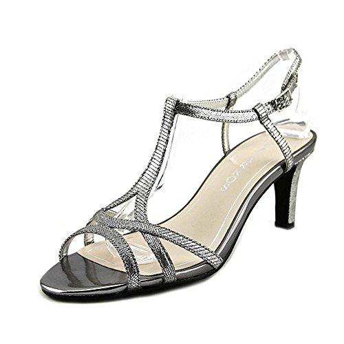 Caparros Bonita T-Strap Evening Sandals, Mercury Lizard