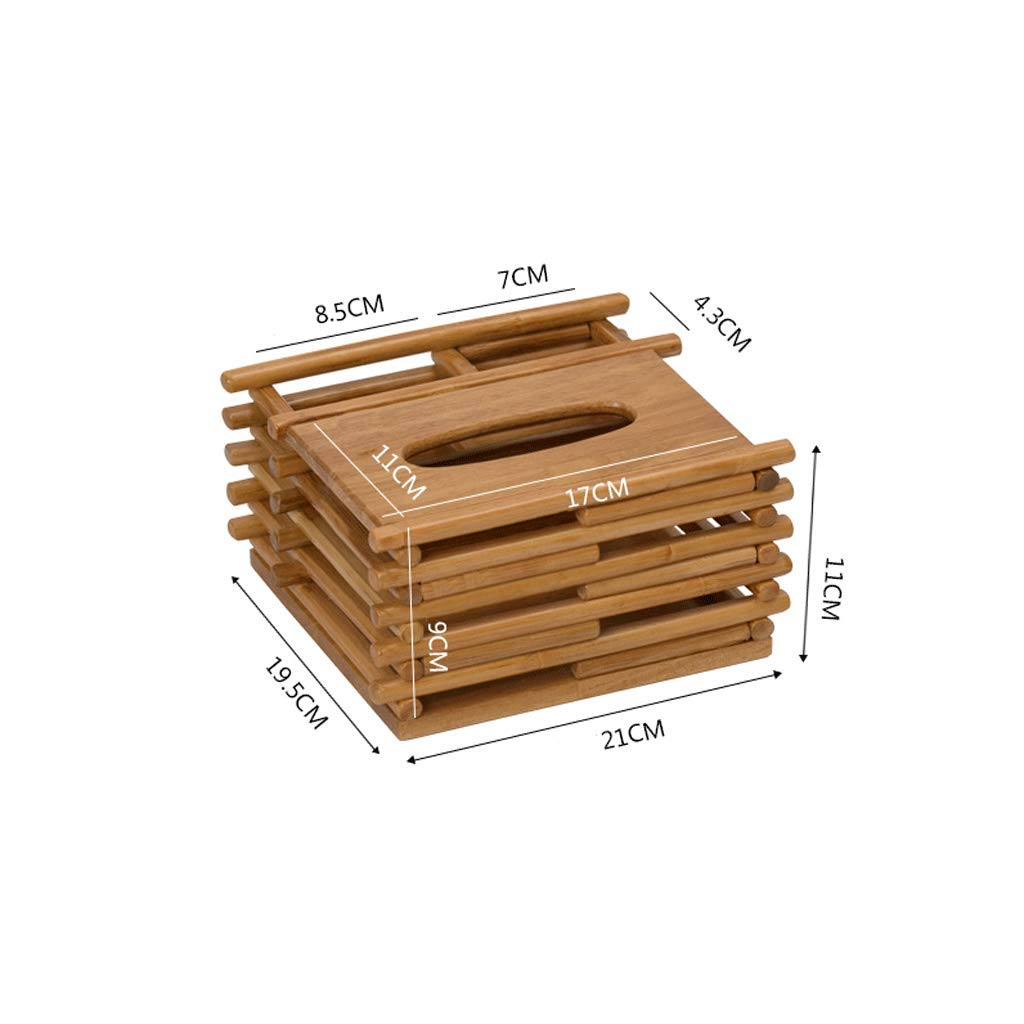 ZYN Multifunctional Rattan Tissue Box- Living Room Remote Control Storage Box Coffee Table Household Solid Wood European Style Tray (Color : D)