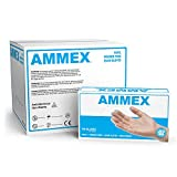 AMMEX Medical Clear Vinyl Gloves, Case of 1000, 4