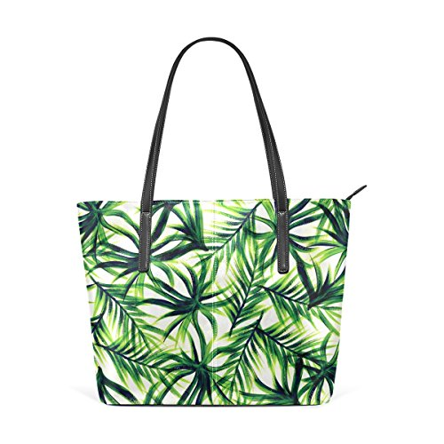 (Ethel Ernest Womens Purse Palm Tree PU Leather Shoulder Tote Bag)
