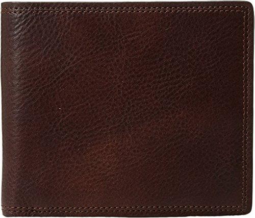 Bosca Mens 8 Pocket - Bosca  Men's Dolce Collection - Eight-Pocket Deluxe Executive Wallet w/ Passcase Dark Brown Wallets