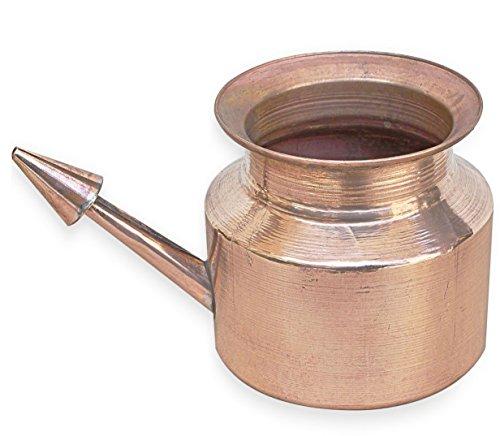 RoyaltyLane Copper Neti Pot - Natural Ayurveda Cleaning System for Sinus & Nasal Passage - 3