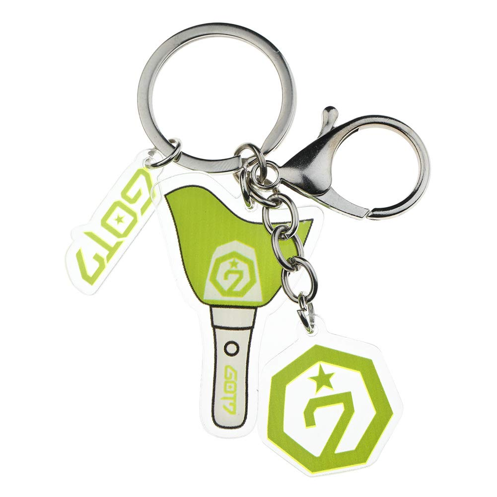 Youyouchard Kpop BTS Keychain BLAKCPINK EXO Twice Seventeen GOT7 Keychain Bag Pendant Keyring with Metal Clip