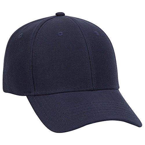 (Product of Ottocap Wool Blend Twill Six Panel Low Profile Baseball Cap -Navy [Wholesale Price on Bulk])