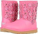 UGG Big Kids Classic Short II Petal Boot Pink Azalea Size 6 Big Kid M