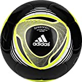 adidas 2011 Glider Soccer Ball, Black/Electricity Yellow, 4