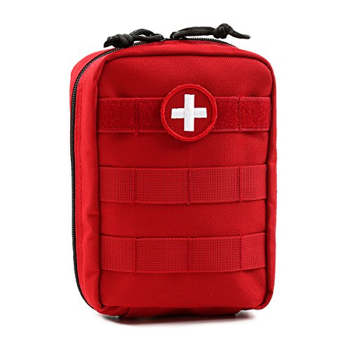 (Orca Tactical MOLLE EMT Medical First Aid Utility Pouch (Bag Only) (Red) )