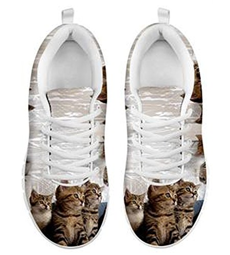Casual Cute Men's Cat Sneakers Brand Print 6 Group TXa8q