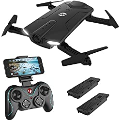 Holy Stone HS160 Shadow FPV RC Drone with HD Wi-Fi Camera and Bonus Battery