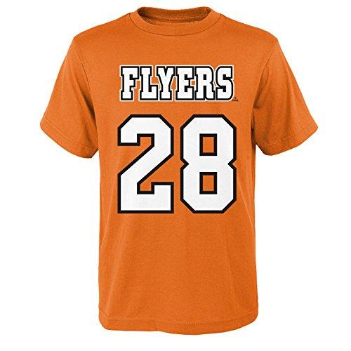 (NHL Philadelphia Flyers Name and Number Short Sleeve Tee, Adult Large, Varsity Orange)