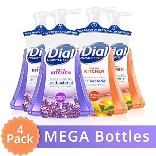 Dial Complete Antibacterial Foaming Hand Wash for Kitchen, Fresh Lavender/citrus Sunburst, 15 Oz (Pack Of 4) (Foam Hand Soaps)