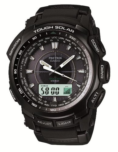 Casio Titanium Bracelet (Casio Pathfinder Resin Black Dial Men's Watch - PRW-5100-1JF)