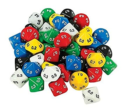 Decimal Dice - 10 Face 0.1 (Pack of 10): Amazon.es: Electrónica