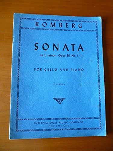 Romberg: Sonata In E Minor Op. 38 No. 1 For Cello And Piano