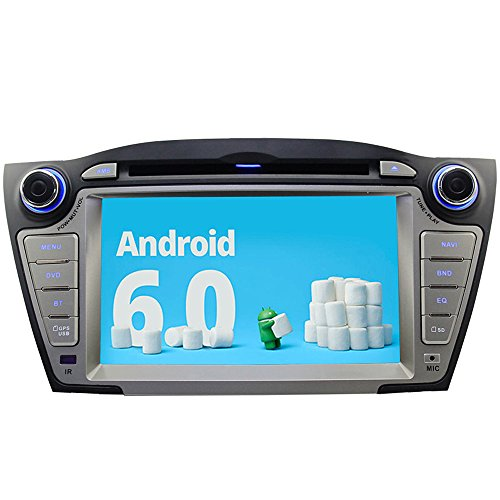 A-Sure Android 6.0 Quad Core DVD GPS Navigation Car Entertainment System For Hyundai Tucson IX35 2009-2013 BT Google Playstore Mirror Link by A-Sure