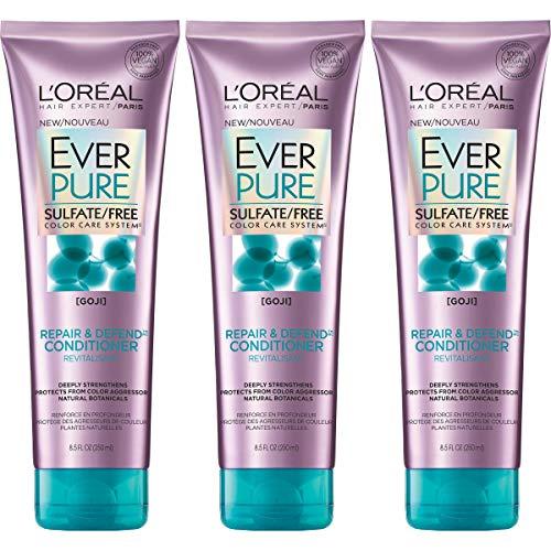 L'Oreal Paris Hair Care Everpure Sulfate Free Repair and Defend Conditioner, 3 Count ()