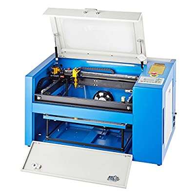 Orion Motor Tech 50W CNC CO2 Laser Engraving Cutting Machine, 110V Laser Engraver Cutter Printer for Wood, Glass, Acrylic with Auxiliary Rotary Device(12 x 20 Inches Engraving Area)