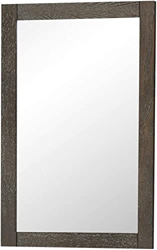 Elegant Decor VM-2003 Xylem Contemporary Mirror, 22 , Weathered Oak