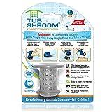 TubShroom TSGRA454 The Revolutionary Tub Drain Protector Hair Catcher/Strainer/Snare, Gray