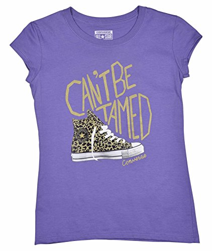 Converse Big Girls (7-16) Chuck Can't Be Tamed T-Shirt-Lilac-Small